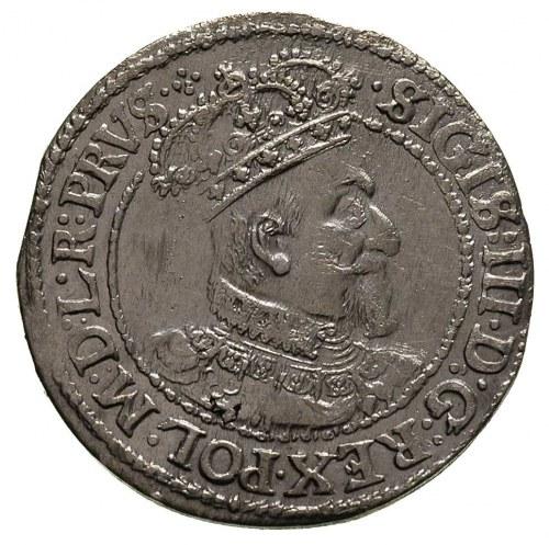 ort 1621, Gdańsk, na rewersie ślady wadliwego bicia, rz...