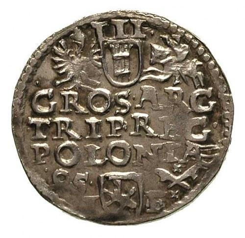 trojak 1595, Poznań, drobna wada bicia