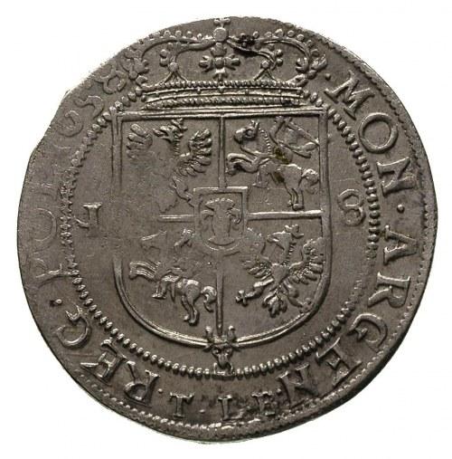 ort 1658, Kraków, na awersie drobna wada blachy