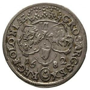 szóstak 1682, Bydgoszcz, popiersie króla w płaszczu