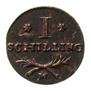 szeląg 1808, Gdańsk, Plage 46, ładnie zachowany, patyna