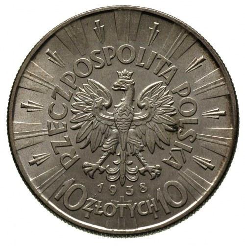 10 złotych 1938, Warszawa, Józef Piłsudski, Parchimowic...