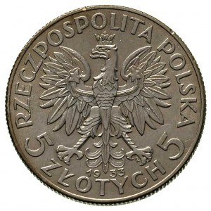 5 złotych 1933, Warszawa, Parchimowicz 116 c, bardzo ła...