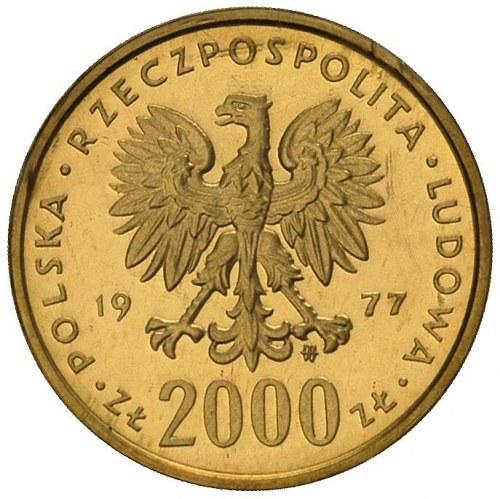 2000 złotych 1977, Warszawa, Fryderyk Chopin, Parchimow...