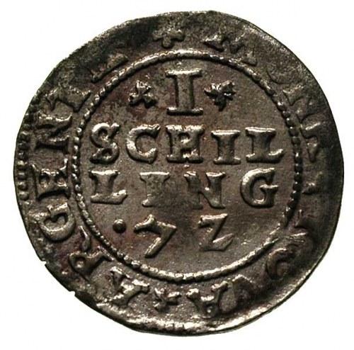 Jan Karol Chodkiewicz 1572-1573, szeląg 1572, Dahlen, N...