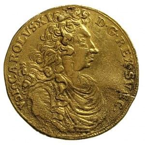 Karol XI 1660-1697, dwudukat 1697, Szczecin, Aw: Popier...