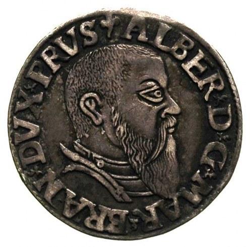 trojak 1543, Królewiec, Bahr. 1184, Neumann 43, ciemna ...