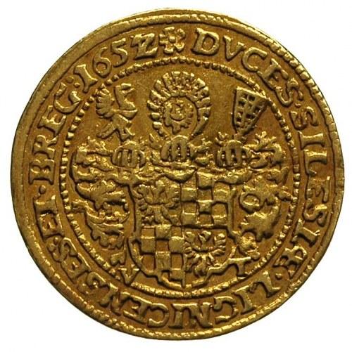 dukat 1652/1, Brzeg, FuS. 1714, Fr. 3200, złoto 3.44 g,...