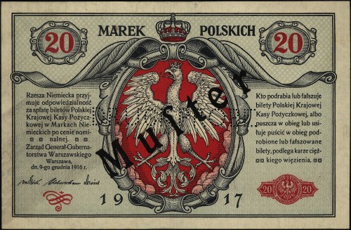 20 marek polskich 9.12.1916, \Generał, seria A 0000000