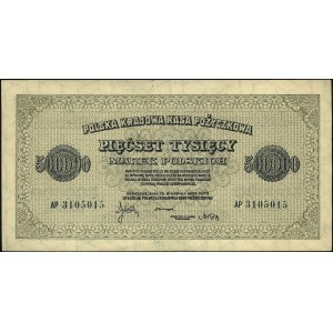 500.000 marek polskich 30.08.1923, seria AP, Miłczak 36...