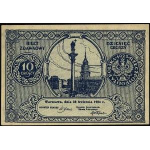 10 groszy 28.04.1924, Miłczak 44, Lucow 701 (R2)