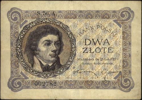 2 złote 28.02.1919, S.56.A 002782, Miłczak 48b, Lucow 5...