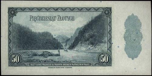 50 złotych 20.08.1939, seria H, Miłczak 88a, rzadkie