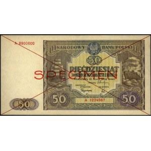 50 złotych 15.05.1946, seria A 1234567 A 8900000, SPECI...