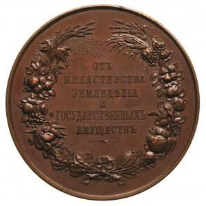 Mikołaj II 1894-1917, medal nagrodowy Ministerstwa Roln...