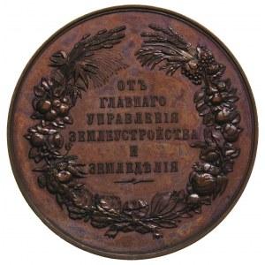 Mikołaj II 1894-1917, medal nagrodowy, Aw: Popiersia Mi...