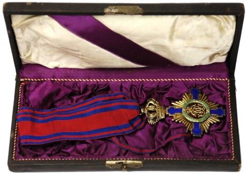 Order Gwiazdy Rumunii, Krzyż Komandorski, typ I, srebro...
