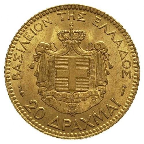 20 drachm 1884, Paryż, Fr. 18, złoto 6.44 g