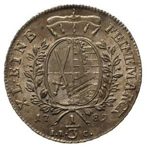 1/3 talara 1789, Drezno, Buck 151.b, bardzo ładny egzem...