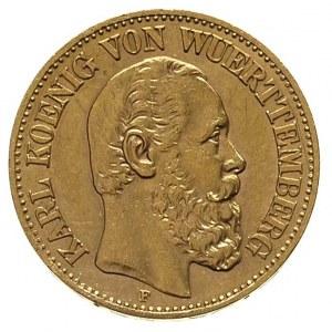 Karol 1864-1891, 10 marek 1873 / F, Stuttgart, Fr. 3872...