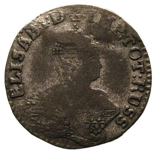 groszy 1761, Królewiec, Aw: Popiersie w prawo i napis, ...