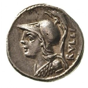 P. Servilius M. f. Rullus 100 pne, denar, Aw: Popiersie...