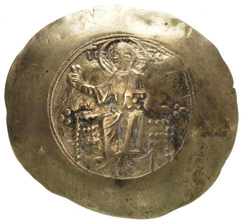 Jan II Komnen 1118-1143, aspron trachy, Aw: Chrystus si...