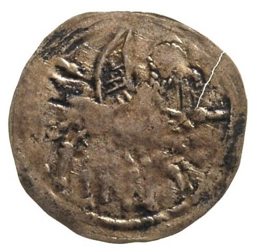 Bolesław IV Kędzierzawy 1146-1173, denar, Aw: Książe na...