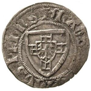 Henryk von Plauen 1410-1413, szeląg, Gdańsk, Aw: Tarcza...