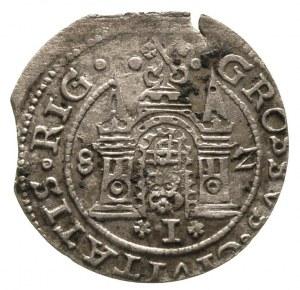 grosz 1582, Ryga, Gerbaszewski 2, moneta z końcówki bla...
