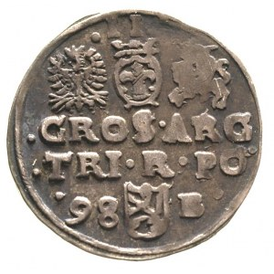 trojak 1598, Bydgoszcz, ciemna patyna