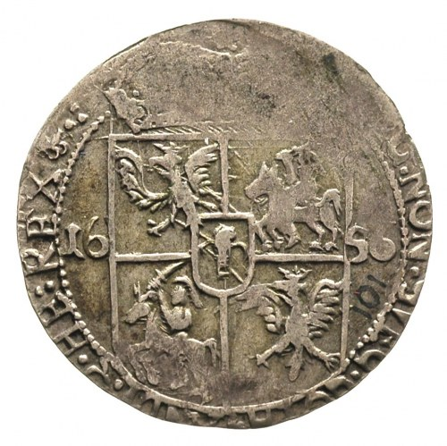 ort 1656, Lwów, odmiana z dużą głową króla, T. 4, chara...