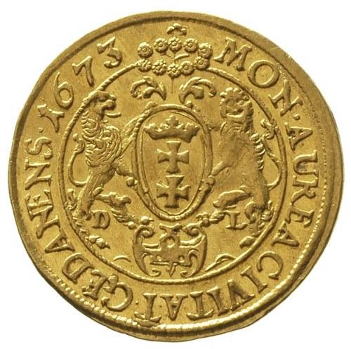 dukat 1673, Gdańsk, Aw: Popiersie króla w prawo i napis...