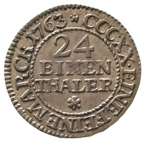 1/24 talara 1763, Lipsk, Merseb. 1770, bardzo ładny egz...