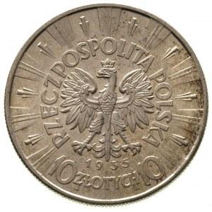 10 złotych 1935, Warszawa, Józef Piłsudski, Parchimowic...