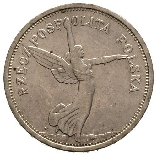 5 złotych 1928, Warszawa, Nike, Parchimowicz 114 a, dro...