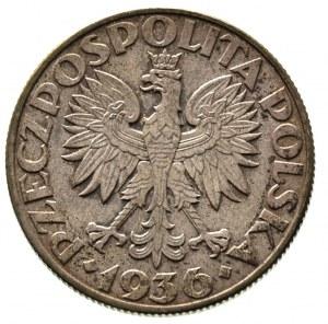 5 złotych 1936, Warszawa, Żaglowiec, Parchimowicz 119, ...