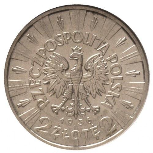 2 złote 1936, Warszawa, Józef Piłsudski, Parchimowicz 1...