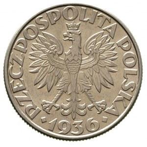 2 złote 1936, Warszawa, Żaglowiec, Parchimowicz 112, wy...