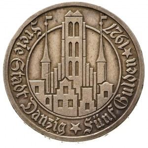 5 guldenów 1927, Berlin, Kościół Marii Panny, Parchimow...