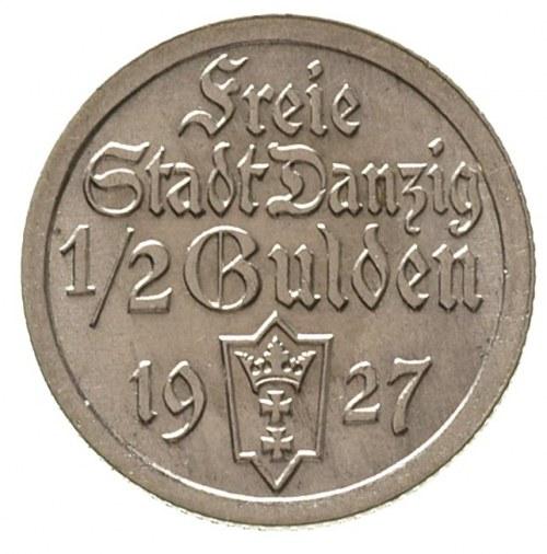 1/2 guldena 1927, Berlin, Koga, Parchimowicz 59 b, rzad...