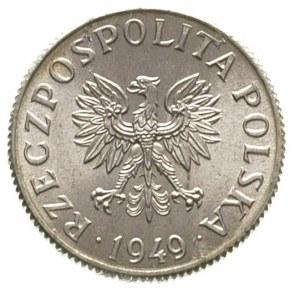 2 grosze 1949, na rewersie wklęsły napis PRÓBA, Parchim...
