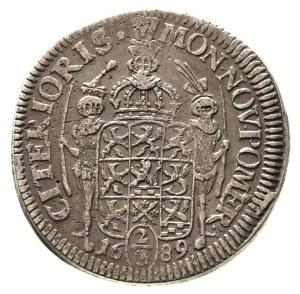 2/3 talara (gulden) 1689, Szczecin, Ahlström 113 b, Dav...