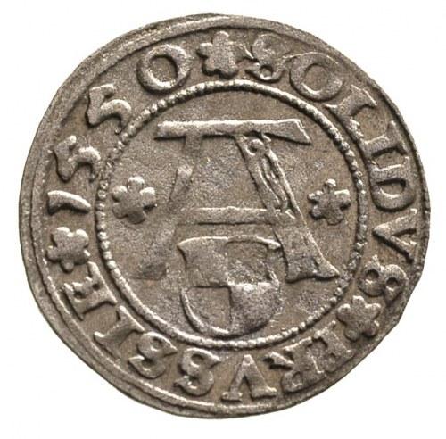 szeląg 1550, Królewiec, Bahr. 1208, Neumann 48