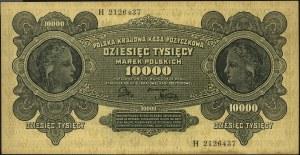 10.000 marek polskich 11.03.1922, seria H, Miłczak 32, ...