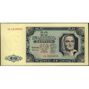 20 złotych 1.07.1948, seria CK, Miłczak 137d