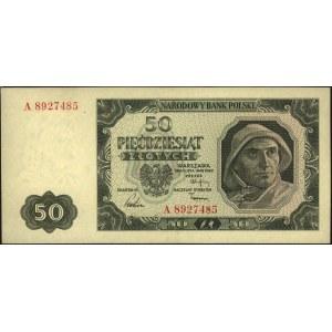 50 złotych 1.07.1948, seria A 8927485, Miłczak 138d, rz...