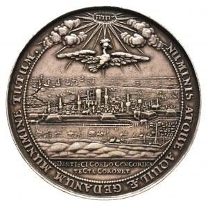 medal autorstwa J.Höhna wybity z okazji przybycia króla...