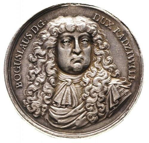 medal niesygnowany z Bogusławem Radziwiłłem, Aw: Popier...