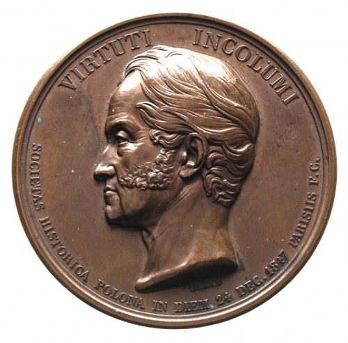 Adam Jerzy Czartoryski - medal autorstwa Barre'a, wybit...